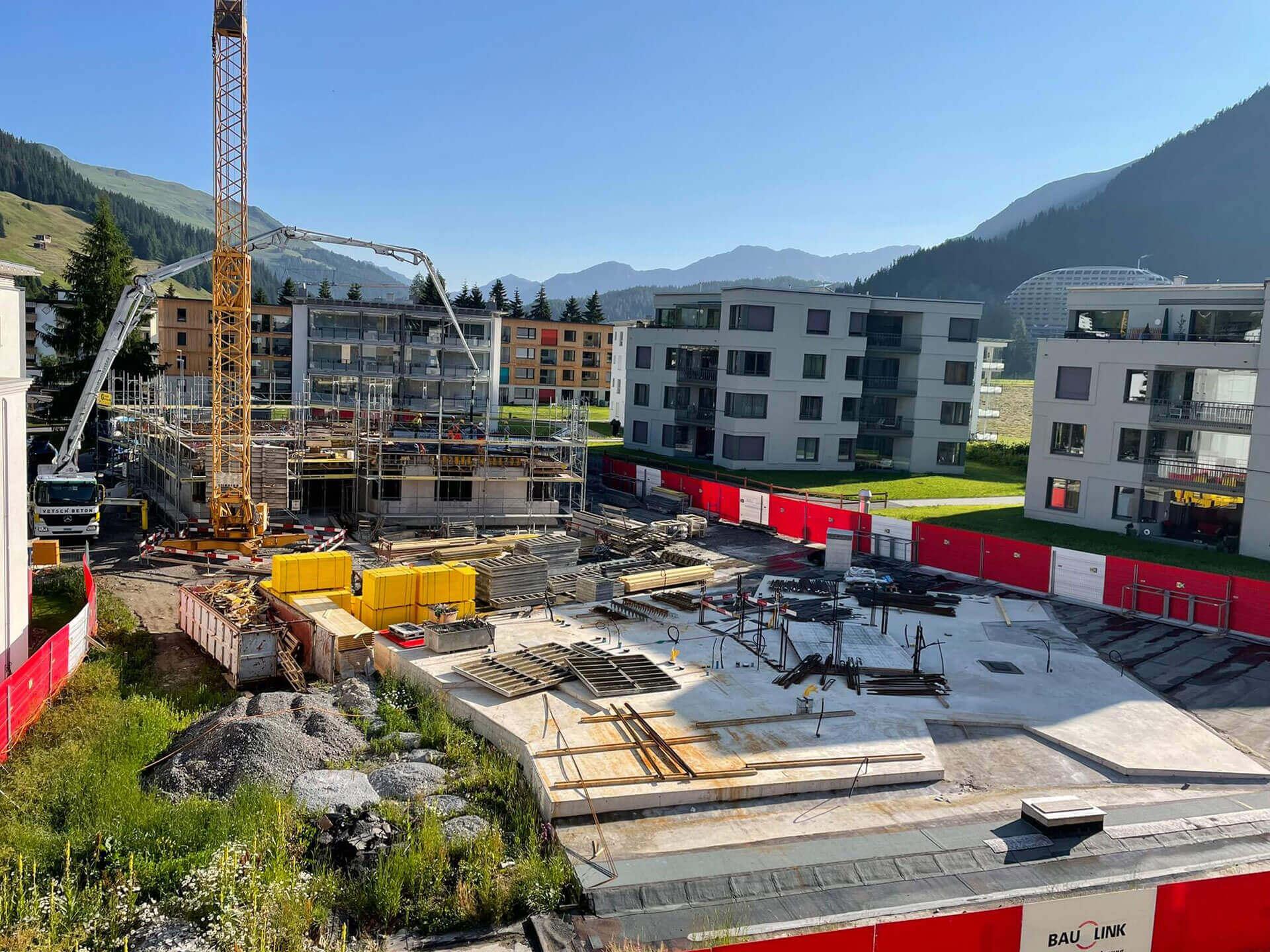 Baufortschritt Bünda Eck Davos